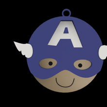 capitaine Amérique porte clés capitaine Amérique clé bague enfants décoration amusement super héros merveille