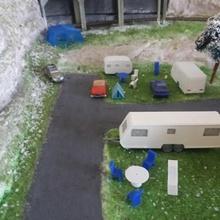 caravan 3places architettura modelism con il treno decori ho camp