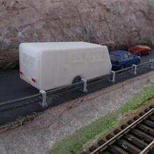 caravan 4-5 posti architettura modelism con il treno decori ho camp