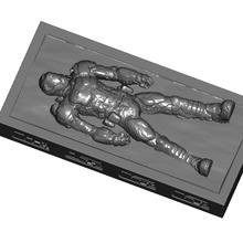 carbonite encased doom slayer optional control panels 2 stands - request carbonite doom doom slayer starwars star wars decor