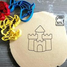 castillo Galleta cortador niños playa princesa Galleta horneando Galleta cortador masa forma cocina hornear galletas speculoos