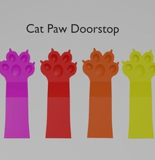 Katze Pfote Türstopper home Türstopper Tür porta cal-o-porta cal-o - cat gato garra pata Jh chat chale porte