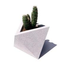 cement flowerpot mould - octahedron octahedron mould pot cement for concrete model geometric home minimalist cactus succulents