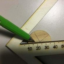center finder righello v2 3mm compensato Taglio laser laser tagliare compensato hand_tools