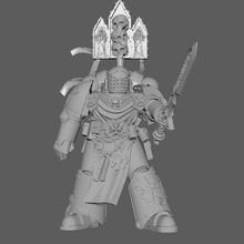 chadded dark crusader art modelos warhammer 40k space marine negro de los templarios 40k