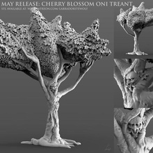 cherry blossom oni treant game d&d treant ent cherry blossom cherry blossom treant oni demon japanese demon mask cherry blossom oni treant miniature creature mini tabletop dungeons dragons labradoritewolf dnd