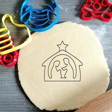Navidad cuna Galleta cortador Navidad cuna Jesús Galleta horneando Galleta cortador masa forma cocina hornear galletas speculoos