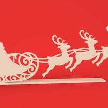 Navidad decoración Papa Noel claus reno Navidad ornamento Papa Noel claus trineo reno alegre Navidad silueta