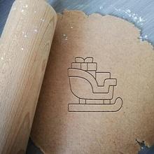Navidad trineo Galleta cortador Navidad trineo Papa Noel Galleta horneando Galleta cortador masa forma cocina hornear galletas speculoos