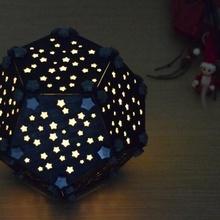 Navidad bóveda dodecaedro pantalla lámpara Encendiendo estrellas