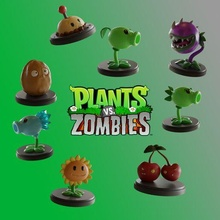 classic pack - plants zombies funko pop marvel comics action figures sculpture kpop bust decoration art cosplay statue figurines table key ring fan art sleeve anime 3d character toy statuette mini chibi plants vs zombies plants zombies water marshal peashooter sunflower petacereza cherry bomb walnut wall-nut patatapum potato-mine icewaters snowpea scavenging plant chomper repeater