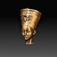 cleopatra statue people character art high poly head printable model