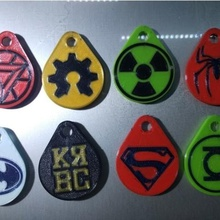 collection keychains logos super heroes tool collection keych dc keychains dual dual keychain key chains keychain two colors marvel universe trousseau double