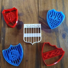 cortador de galletas de fútbol de escudos varios