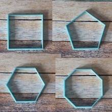 cookie cutters geometric shapes - geometric cutters 01 art cookie cookie cutter cutter fondant fondant cutter pastry cake sharp cookies masses tags frames porcelain cold porcelain pastry shop vintage set kit square cutting pentagon hectagon octagon