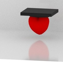 corazon graduado- cardiologo art toy art toy heart