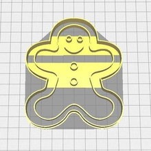 cortador galletas gingerman de la herramienta navidad gingerman fondant galleta cortador cortante cortador de galletas