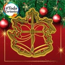 cortante campana navidad navidad Navidad felicidades fiestas felices fiestas natal 2021 año cortante Galleta Galleta cortador masa masas pastel tortas magdalenas bricolaje diy 3d cortantes cortadores