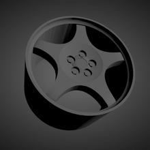 corvette c4 grand sport oem scalable printable rims cars low poly hot wheels 1/18 1/24 1/25 1/32 1/43