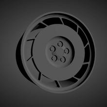 corvette c4 oem scalable printable rims cars low poly hot wheels 1/18 1/24 1/25 1/32 1/43