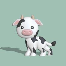 cow flat cow flat cow flat cute cow cute miniatures sculpture animal farm milk decorative play