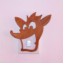 crash bandicoot light switch cover home lightswitch style different playroom child kid party bedroom simple design decoration decor cool cover switch light retro playstation game bandicoot crash ps4 ps3 ps2 art home