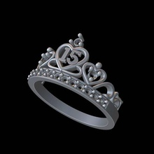 Krone Ring Schmuck Ring Gold Silber Krone Diamant Joyero edlen Schmuck Wachsmodell