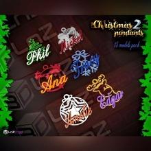 personalizzabile Natale ciondoli pacco 2 Natale pendente gioielleria albero presente decorazione moda Pasqua festa famiglia personalizzato personalizzabile bellissimo palla squillare saggio uomo santo claus Babbo Natale
