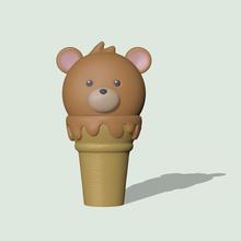 cute bear ice cream bear ice cream cute bear ice cream bear ice cream cute figure sculpt sculpture sculptures toy art toy miniatures
