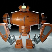 ciclope robot arte robot ciclope miscelatore cicli arte render metallo ferro ciclope