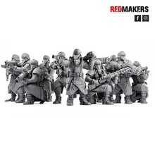 death squad imperial force bionic legs krieg death korps dkok warhammer 40000 40k wh40k 28mm military tabletop board games miniature human soldier army imperial guard red makers
