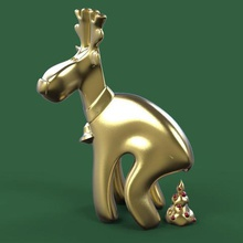 los ciervos de la navidad broma.art.3d.modelo.la impresión.árbol.de juguete.animal.stl.de regalo.tienda de regalos.lowpoly.baja poli