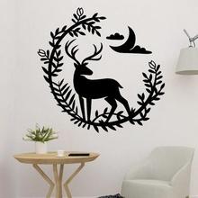 deer flower decor art deer flower nature animal flower deer wall art deer 2d deer decor deer decoration deer
