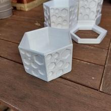 hexagonal plantador escrivaninha arrumado 3 camada ficar pé plantador hexágono hexagonal escrivaninha arrumado plantio caneta suporte