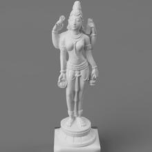 devi portant l'eau pot livre art hindou Inde Indien déesse devi saraswati sarasvati belle Divin Lakshmi
