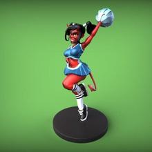 diable de fille de pin-up - pom-pom girl art pin-up la femelle femme jeune fille diable pom-pom girl démon figure les miniatures sexy belle jolie la fête d'halloween stylisé de la fantaisie figurine écolière la jupe athlétique les figurines