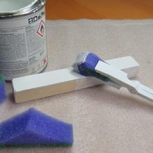 diy brush kitchen sponge tool brush brush clamp brush handle brush holder diy foam brush gadget invention sponge brush sponge brush holder sponge holder hand tools