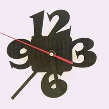 kendin yap Lazer kesimi 3d Yazdır duvar saat 3dp 3dpburner siyah karton saat kendin yap horloge ev lazer Lazer kesimi Murale duvar izlemek