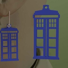 doctor - tardis earring jewelry earrings  tardis tardis earrings tardis drwho tardis mini tardis dr drwho doctor doctor 3dpicks