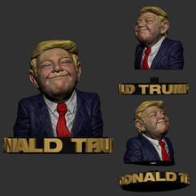 donald trump 3d print model - donald trump 3d sculpture art donald trump funny donald trump meme sculpture zbrush donald trump print model donald trump printable donald trump printable model printable model