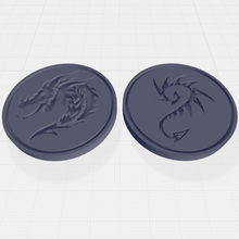 dragon head dragon tail themed flip coin coin flip dragon fantasy rpg