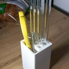 drinking straw holder drinking drinking straw glass straw holder kitchen kitchenware metal straw organization organizer straw straw holder kitchen_dining