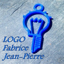 during fabrice jean-pierre jewelry while logo jean pierre design idea bulb nozzle idea bulb nozzle pendant gift extruder bulb extruder fast printing 5 minutes without support easy printing beginner printing beginner keychain key ring support free