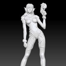 dva overwatch 3d printing stl file diva dva girl sexy hot woman female game hana overwatch dva diva statue figurine