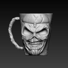 eddy iron maiden mug glass eddy iron maiden skulldy
