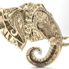 elephant mandala zentangle 1 art elephant mandala zentangle bas-relief relief cnc