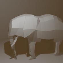 elephant poly & elegant sculpture elephant low poly
