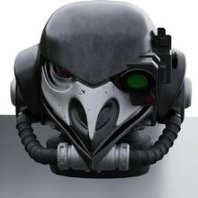 elite broody magpie helmet - specops warhammer raven guard corvus 40k space_marine helmet