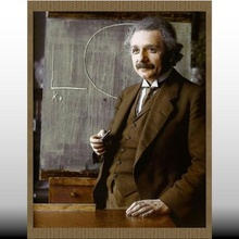 embossed einstein painting studying relativity art table picture relief scientists science embossed famous famous