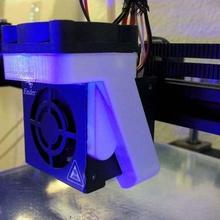 ender 4 magnetic 40 mm fan duct tool 3d printer parts fan duct fan ender 4 ender created freecad creality ender 4 40mm fan duct